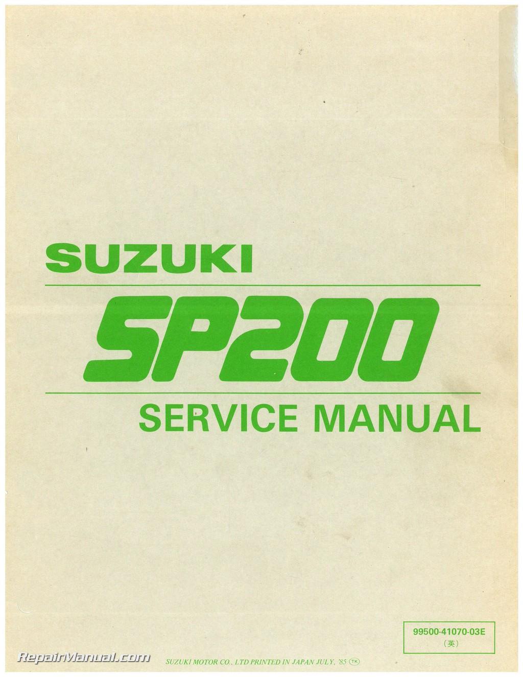 suzuki dr200se 2002 factory service repair manual