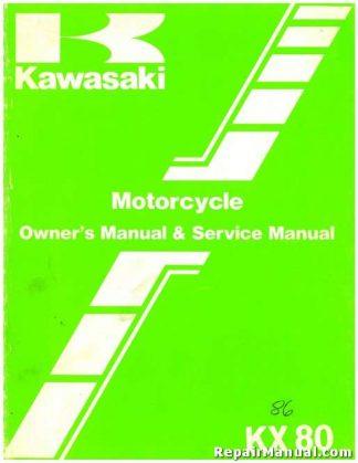 1986 Kawasaki KX80 Motorcycle Owners Service Manual