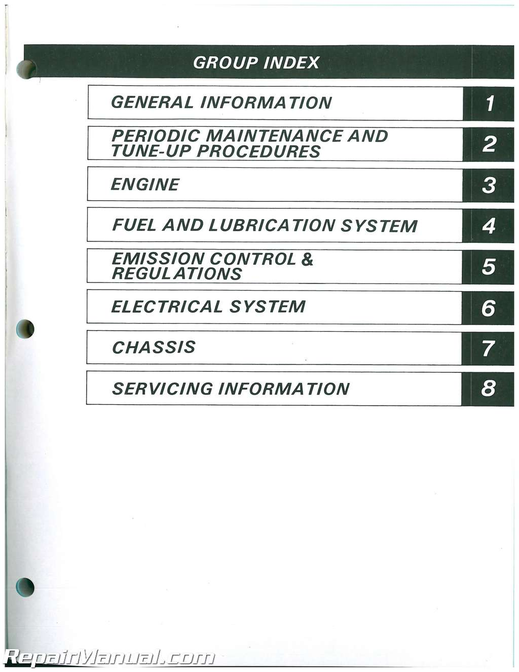 1987-1988 Suzuki DR200 SP200 Motorcycle Service Manual