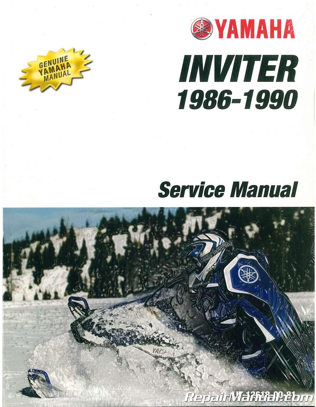 1987 1990 Yamaha Inviter Cf300 Snowmobile Service Manual