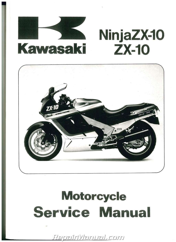 1987-1991 Kawasaki ZX1000B NINJA ZX-10R Motorcycle Service Manual