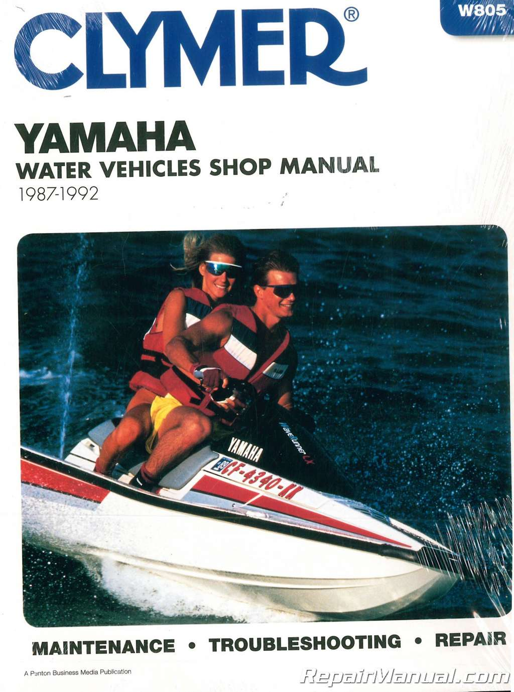 1987-1992 Clymer Yamaha Waverunner Wavejammer Personal Watercraft Repair  Manual