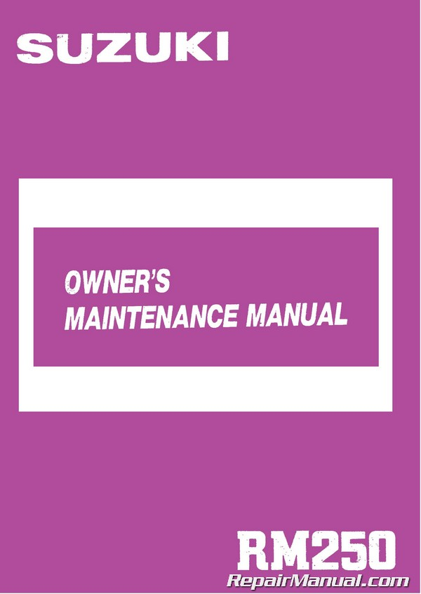 suzuki rm 250 repair manual