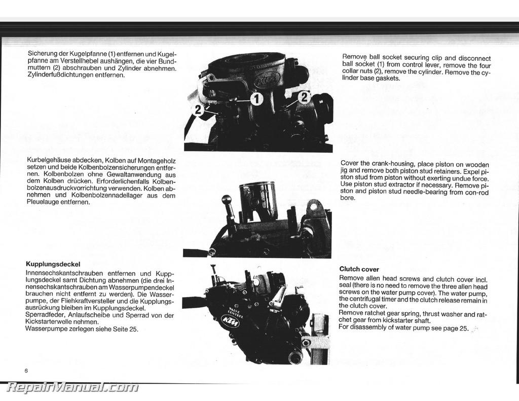 Ktm Engine Schematics Wiring Diagrams 1990 Wrangler 4 2 Diagram 1988 1989 1991 125 Dxc Egs Exc Mx Service Coltiveterengine