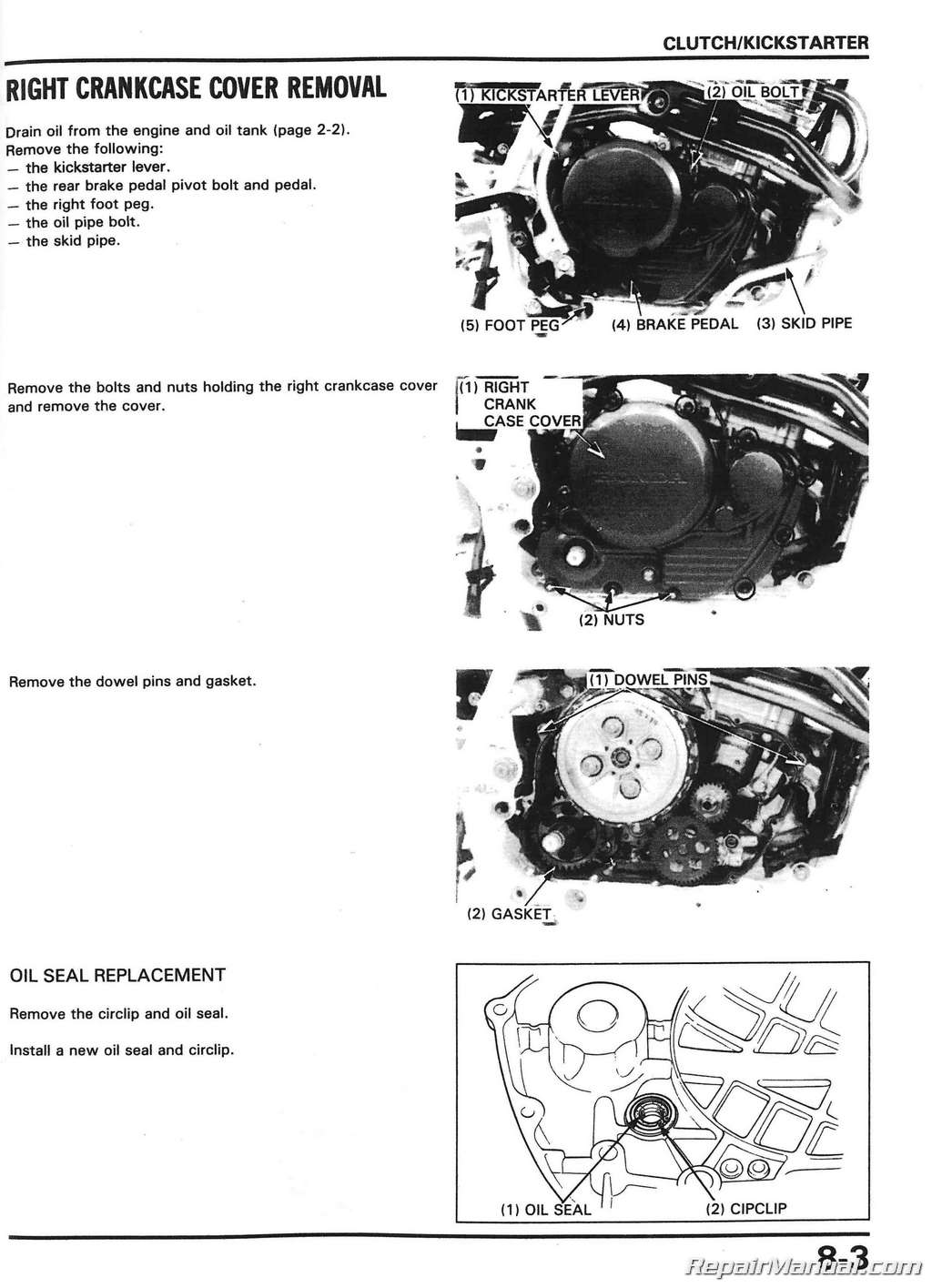 1988 2000 honda xr600r motorcycle service manual rh repairmanual com honda xr600r service manual pdf honda xr600 service manual pdf