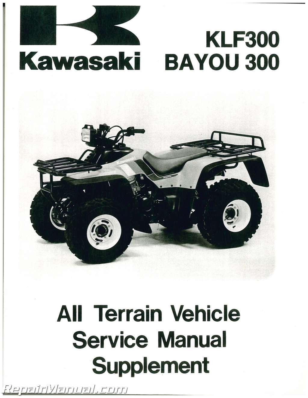 ... 2003 Array - 1988 2001 kawasaki klf300 service manual supplement rh  repairmanual ...