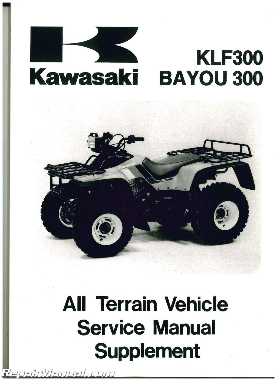 1988 2006 kawasaki klf300 service manual supplement rh repairmanual com kawasaki klf 300 manual free download kawasaki klf 300 manual free download