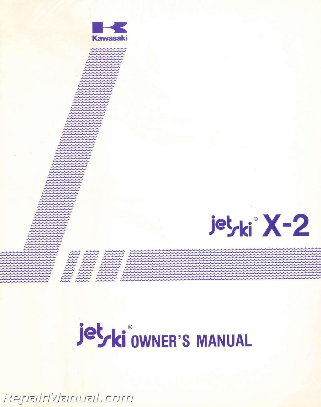 1988 Kawasaki JF650A3 X-2 Jet Ski Factory Owners Manual 01
