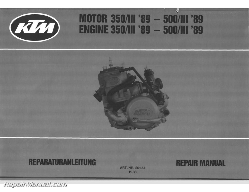 1989-1990-KTM-350-500-540-Engine-Service- ...