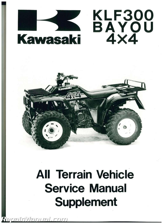Kawasaki Bayou Service Manual Supplement on Kawasaki Bayou 300 4x4 Parts