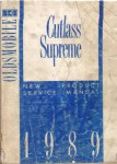 Used 1989 Cutlass Supreme New Product Service Manual