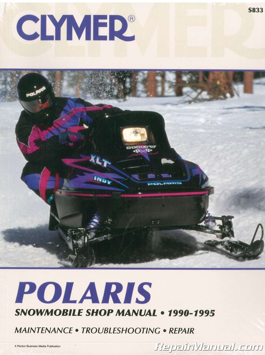 1990-1995 SKS RXL XLT GT 400 500 650 Clymer Polaris Snowmobile Service  Manual