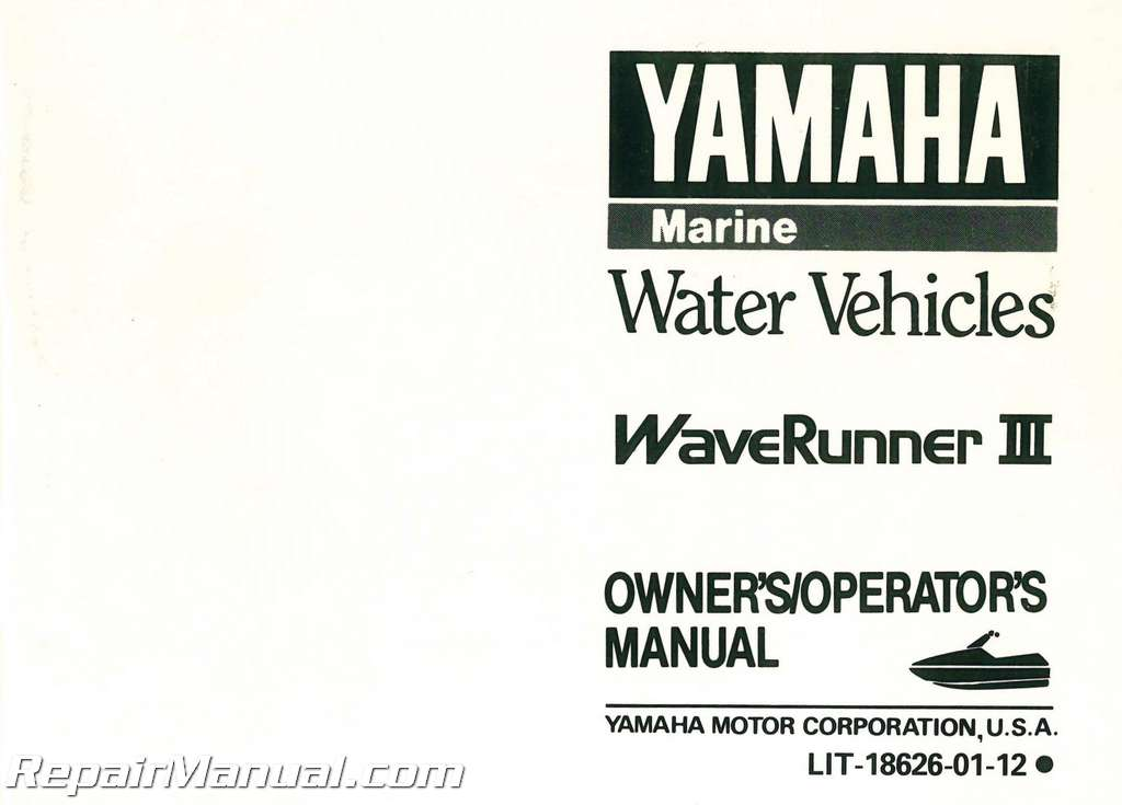 1990 Waverunner repair manual