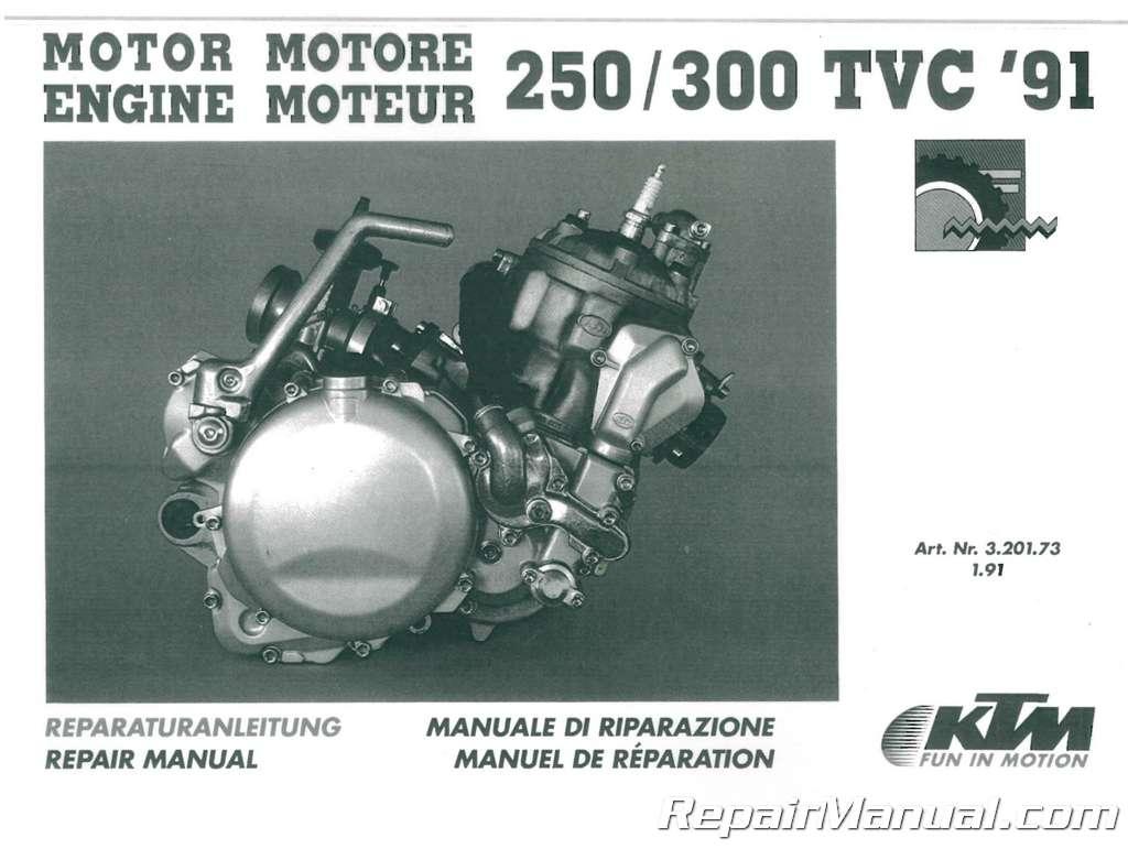 1991 - 1995 KTM 250 - 300 Two Stroke Motorcycle Engine Service Repair Manual