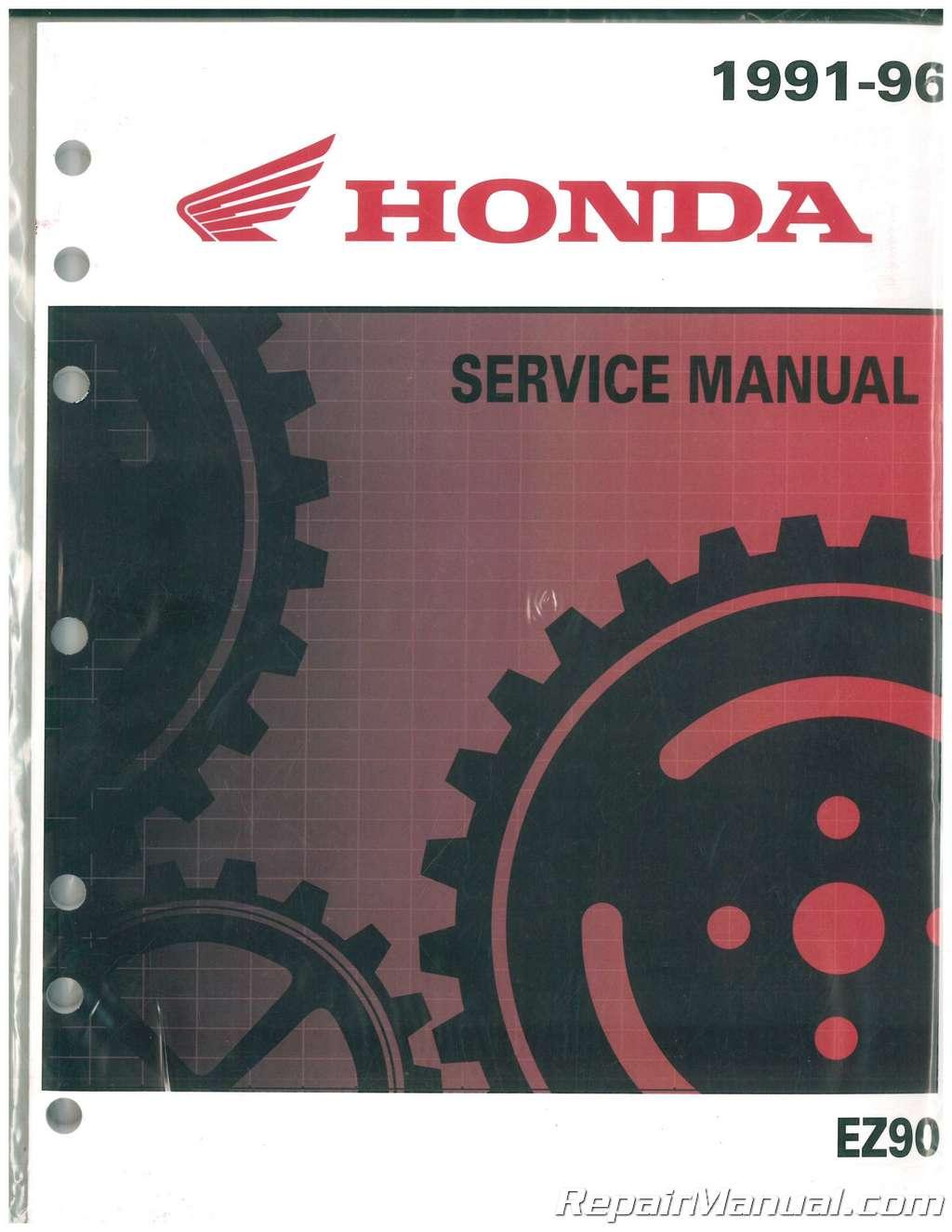 1991 1996 honda ez90 cub motorcycle service manual rh repairmanual com honda cub ez 90 manual parts honda cub 90 workshop manual