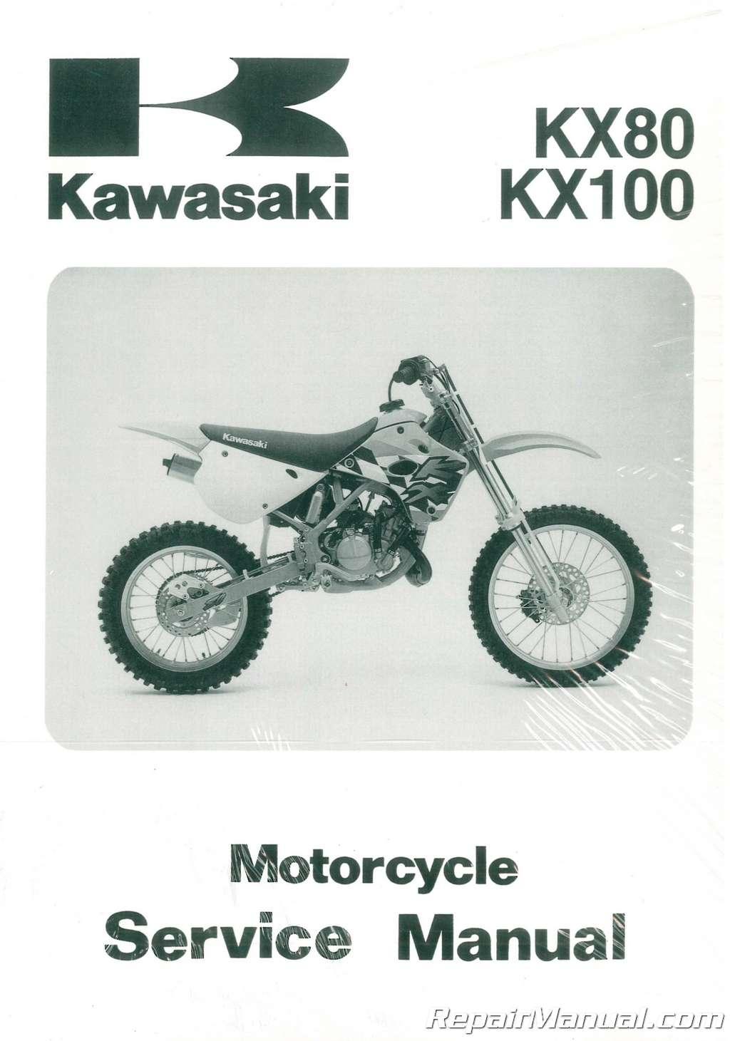 1991 1997 kawasaki kx80 kx100 service manual rh repairmanual com Honda CR  80 Kawasaki KX65