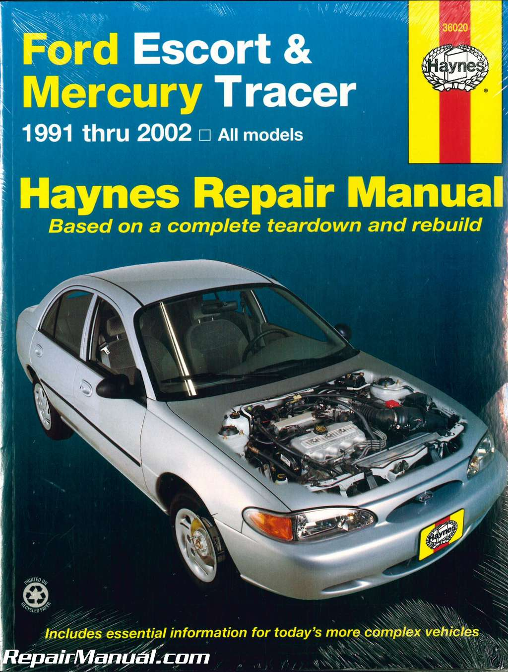 1991 2002 ford escort and mercury tracer automobile repair manual by rh  repairmanual com Chilton Repair Manuals Ford Everest Ford ZX2 Repair Manual