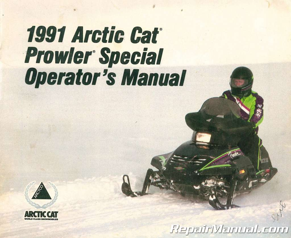 used 1991 arctic cat prowler special snowmobile owners manual. Black Bedroom Furniture Sets. Home Design Ideas