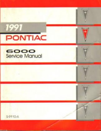 Used 1991 Pontiac 6000 Factory Service Manual