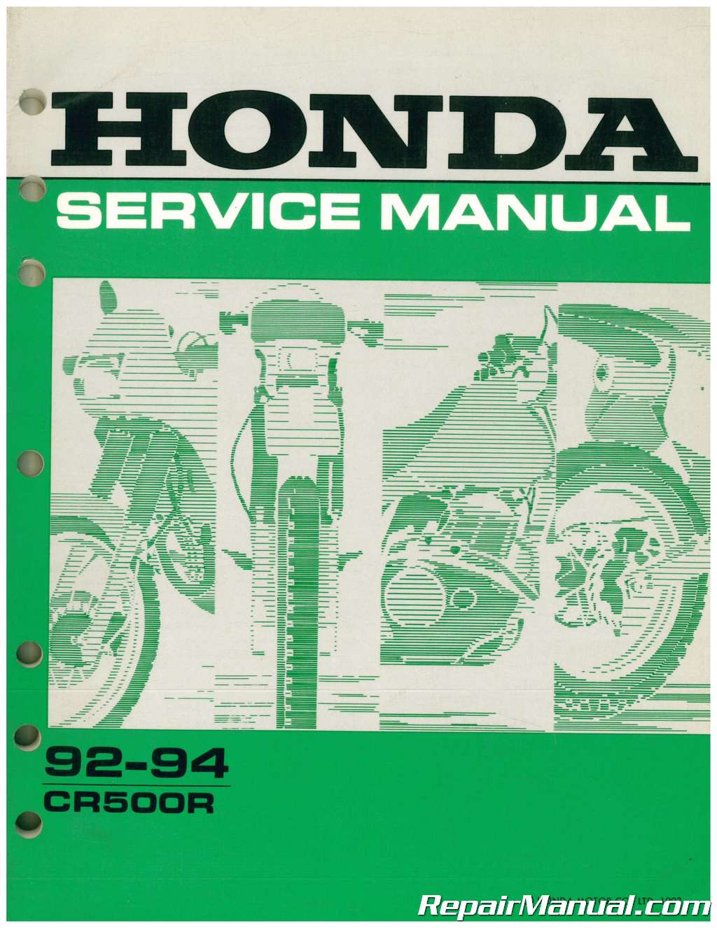 Used 19921994 Honda    CR500R    Service Manual