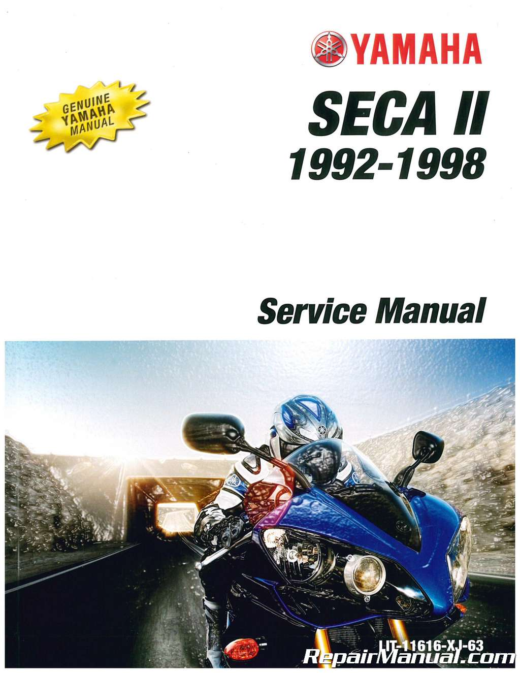 1992 1998 yamaha xj600s seca ii motorcycle service manual rh repairmanual com 1996 Yamaha 600 Seca II Yamaha Seca 2 600