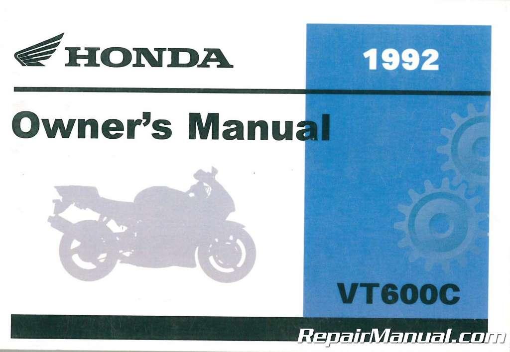1992 honda vt600c shadow vlx motorcycle owner manual 31my0610 ebay rh ebay com honda shadow phantom owner's manual honda shadow 750 owners manual