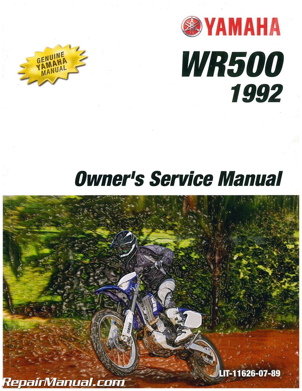 1992 yamaha wr500zd owners motorcycle service manual. Black Bedroom Furniture Sets. Home Design Ideas