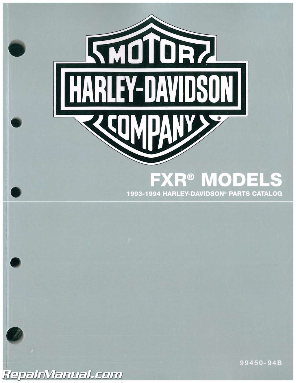 Harley Davidson All Cc Motorcycle Parts Manual on 1992 Harley Softail Wiring Diagram