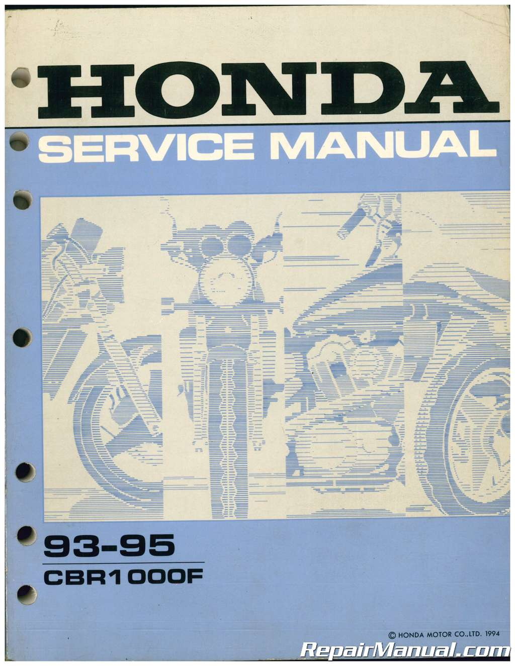 used 1993 1995 honda cbr1000f service manual. Black Bedroom Furniture Sets. Home Design Ideas