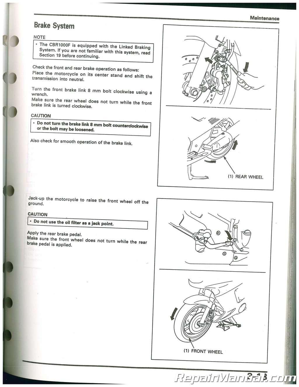 Honda cbr 1000f manuals.