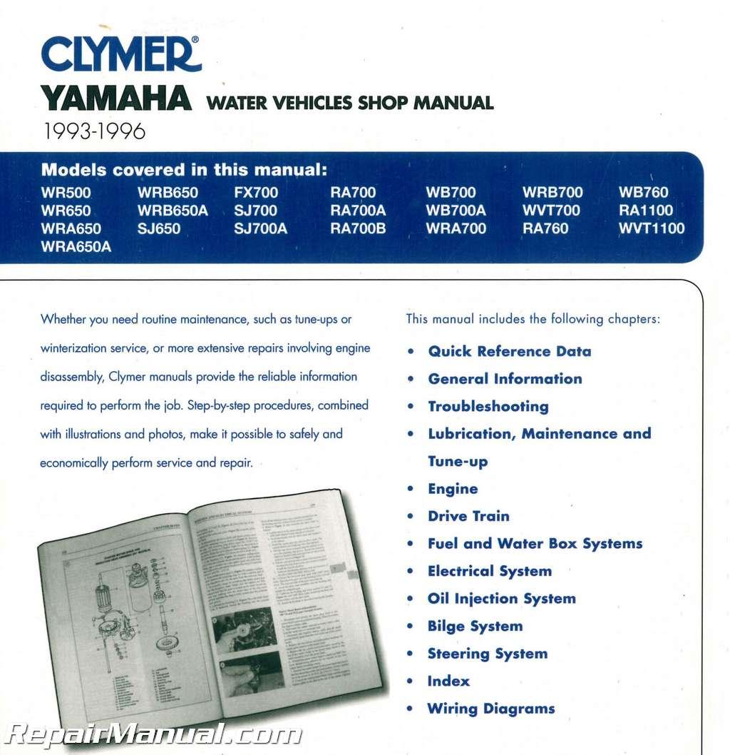 93 yamaha 650 waverunner owners manual tap to expand array 1993 1996 yamaha waverunner clymer personal watercraft service manual rh repairmanual fandeluxe Images