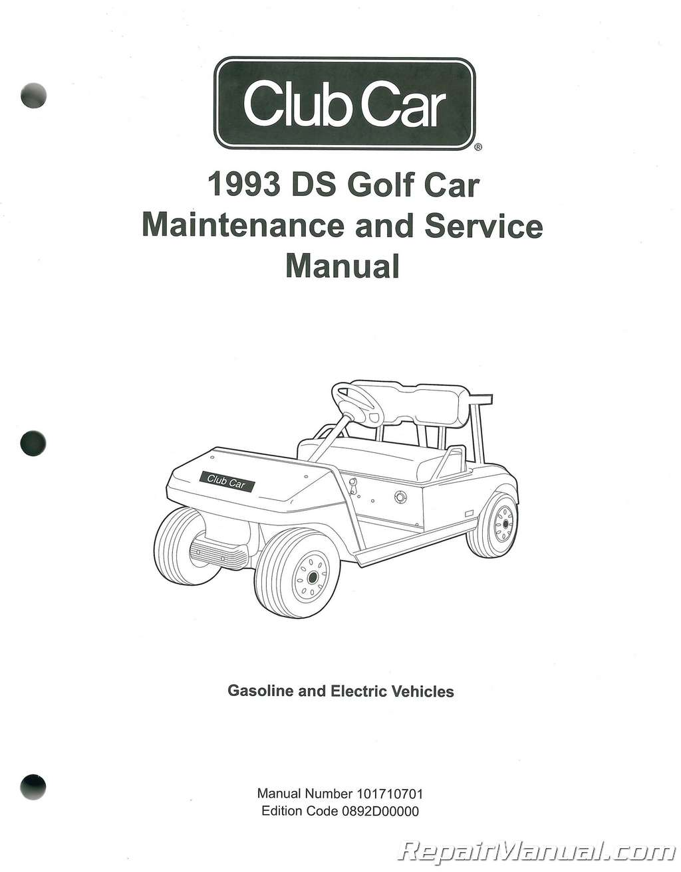 1993 club car ds golf car maintenance and service manual rh repairmanual com 1993 Club Car Solenoid 1993 Club Car Solenoid