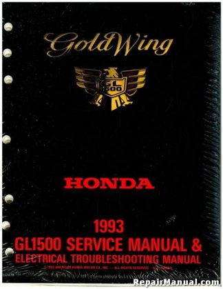 1993 Honda GL1500 Gold Wing Factory Service Electrical Troubleshooting Manual