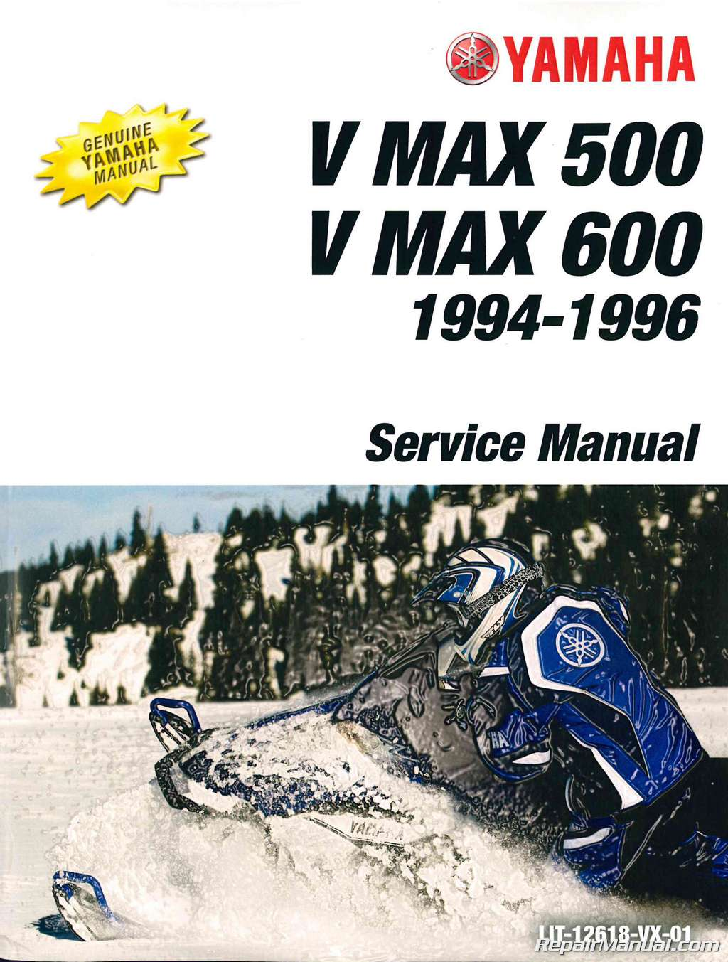 1994-1996 Yamaha V Max 500 VX500 And V Max 600 VX 600 Snowmobile Service  Manual