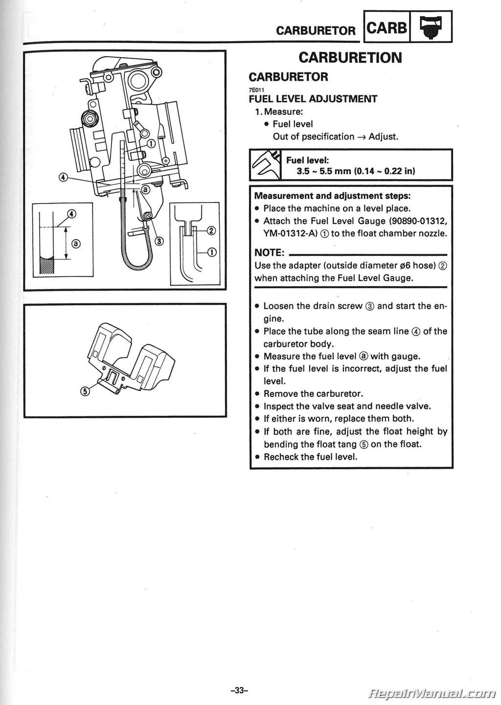 1994 1996 Yamaha V Max 500 Vx500 And 600 Vx Snowmobile Fuel Level Gauge Schematic Service Manual