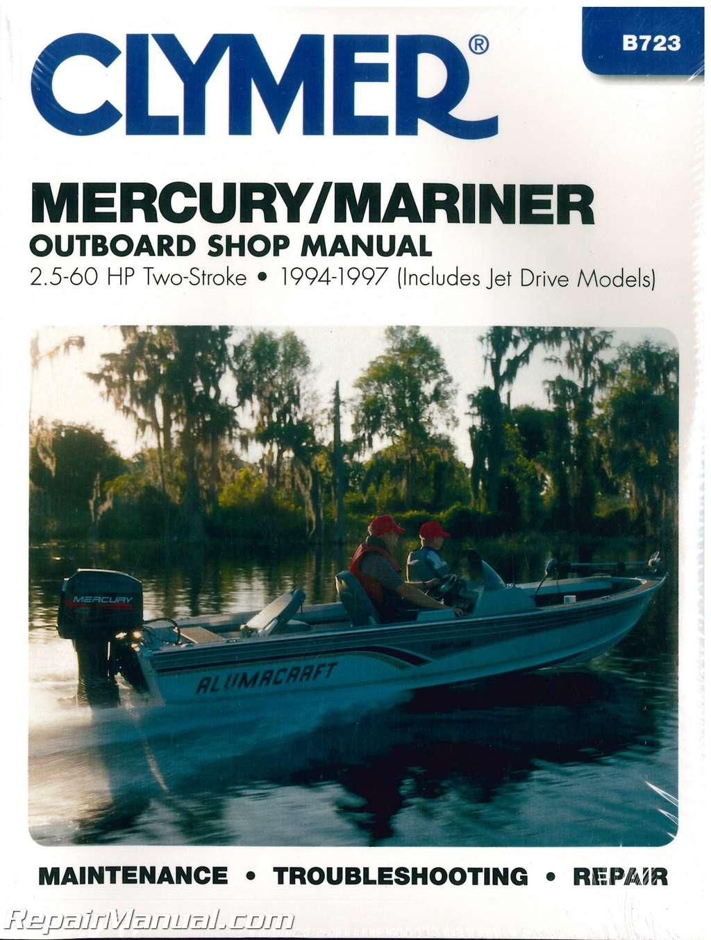 mercury mariner   hp outboard boat engine repair manual