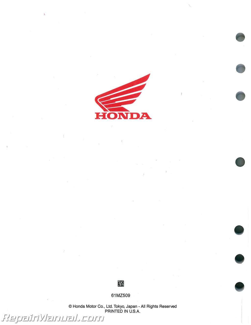 1994 2003 Honda Vf750c Cd Magna Motorcycle Service Manual Diagram Of Parts 2001 A Alternator