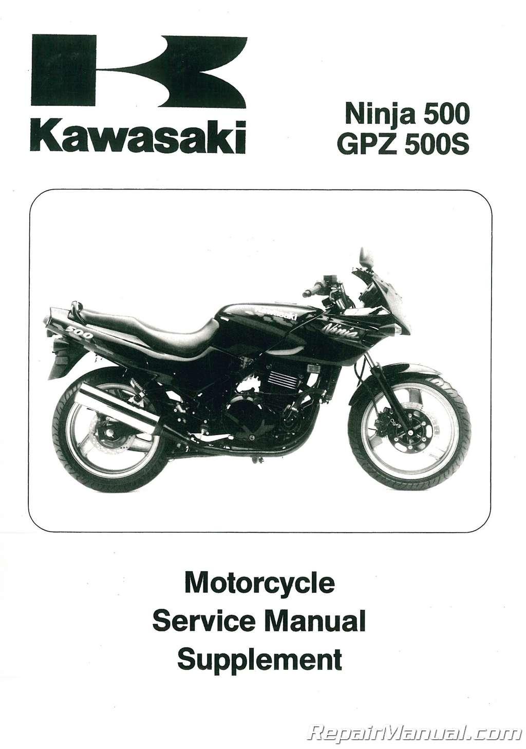 1994-2008-Kawasaki-EX500D-Ninja-Motorcycle-Service-Manual- ...