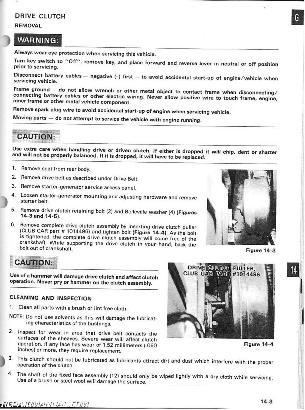 1994 Club Car Service Manual Online User Wiring Diagram Ds Golf Maintenance And Rh Repairmanual Com