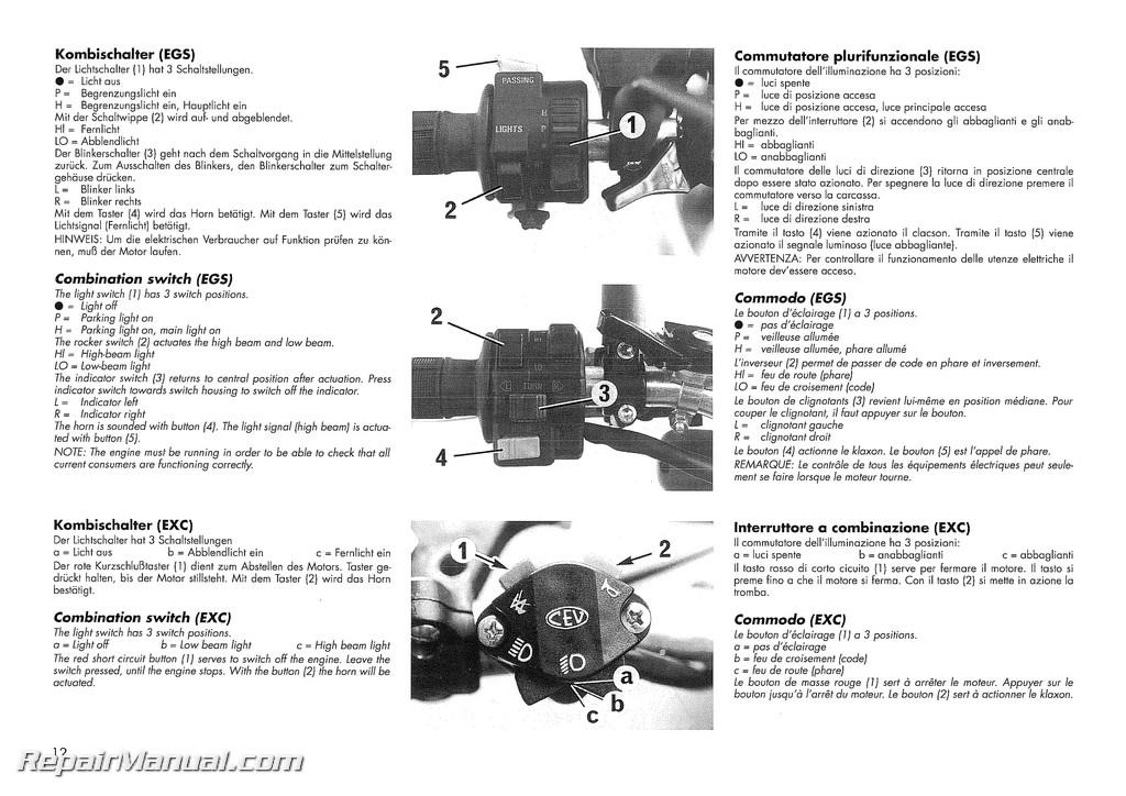1994 ktm 400 lc4 620 lc4 motorcycle owners handbook