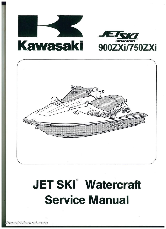 1995 1997 kawasaki jet ski 900 750 zxi factory service manual rh  repairmanual com Kawasaki 750 ZXI 1996 kawasaki 1100 zxi repair manual