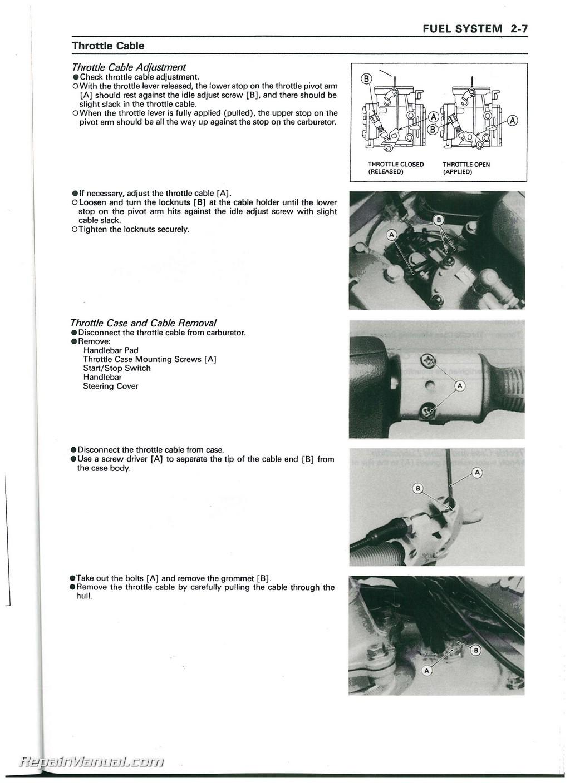 95 Kawasaki 750 Zxi Service Manual