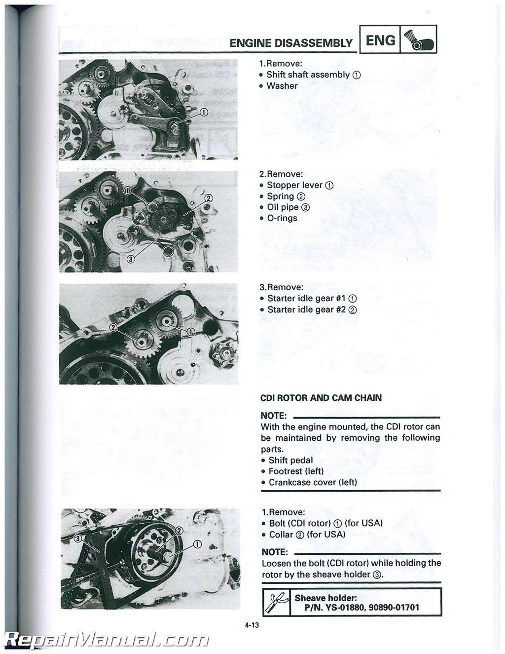 yamaha wolverine 350 service manual