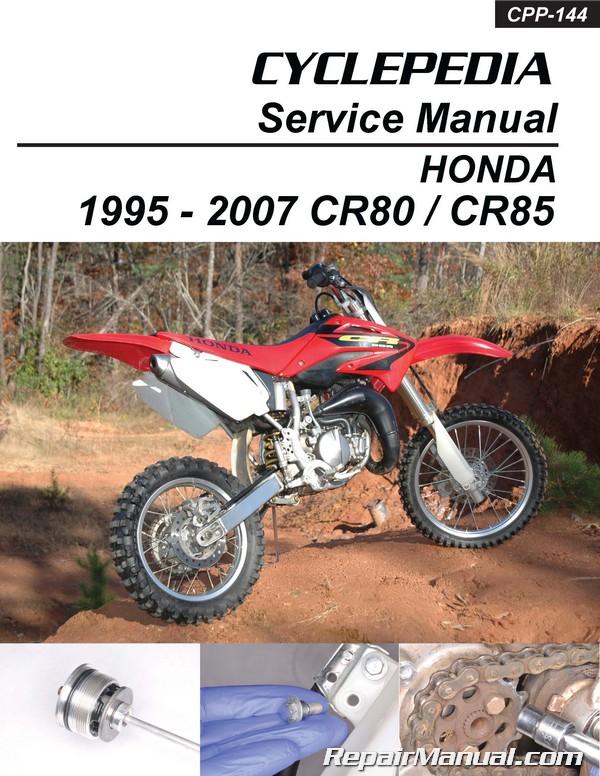 1995 2007 honda cr80 cr85 cyclepedia motorcyle printed service manual rh repairmanual com 2001 CR80 2 Stroke 2002 honda cr80 manual pdf