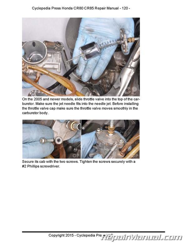1995-2007 Honda CR80 CR85 Cyclepedia Motorcyle Printed Service Manual