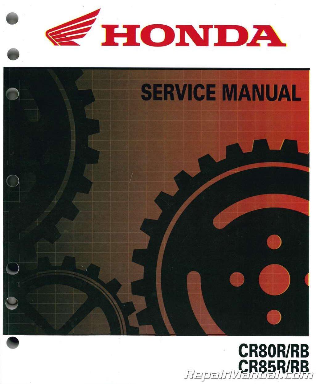 2001 honda cr80 manual