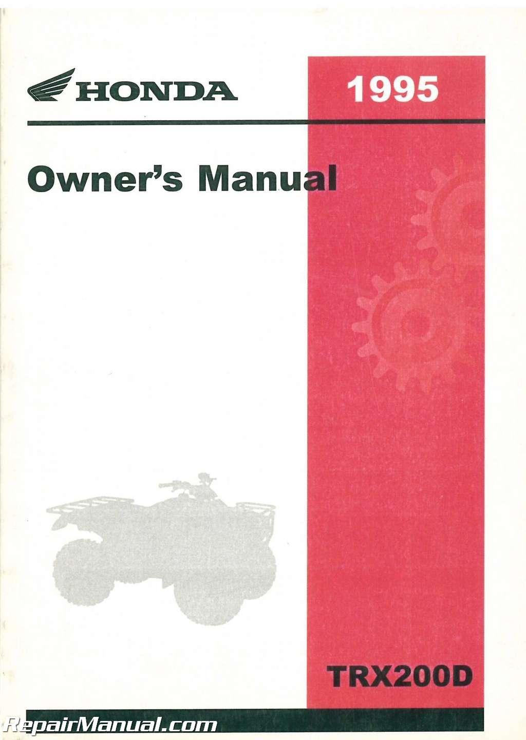 1998 honda trx 300 owners manual