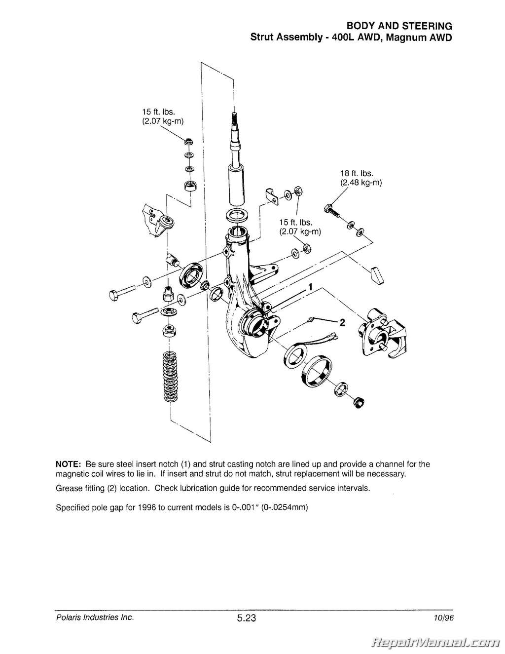 1996 1998 Polaris ATV and Light Utility Vehicle Repair Manual2 wiring diagram polaris xplorer 300 the wiring diagram Polaris Magnum 325 Carburetor Diagram at n-0.co