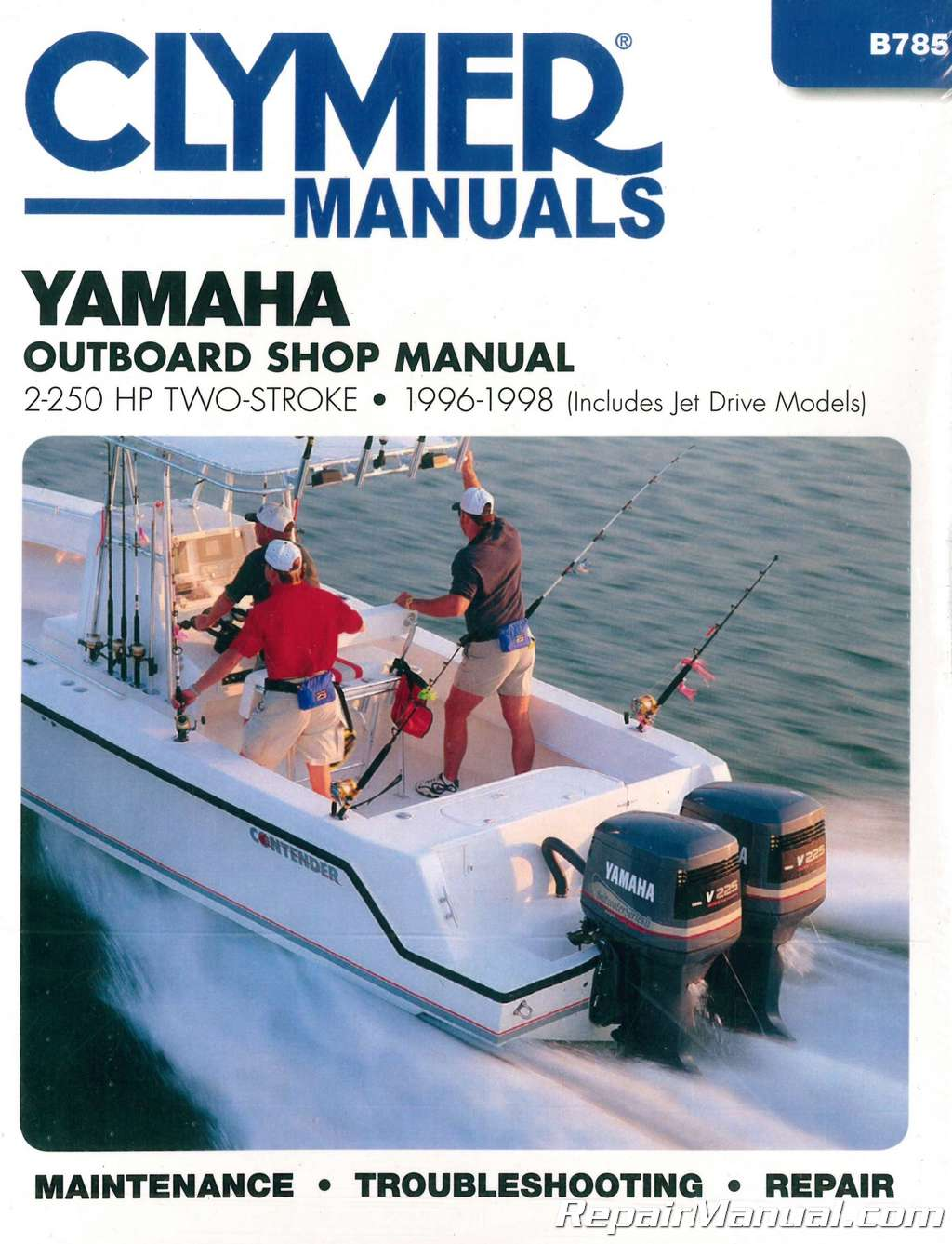 1996-1998 Yamaha 2 – 250 Horsepower Two-stroke Outboard Boat Engine Repair  Manual