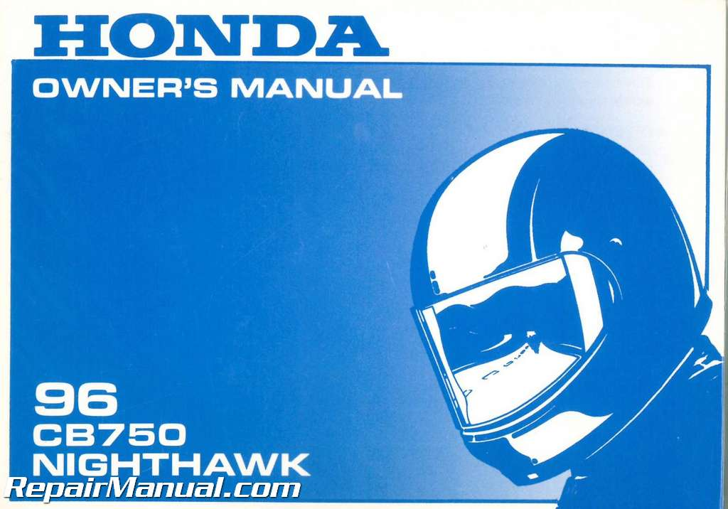 USED 1996 Honda CB750 Nighthawk Motorcycle Owners Manual